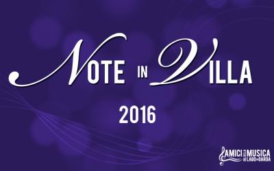 NOTE IN VILLA 2016